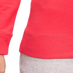 Sweater met ronde hals gym en pilates dames - 1098440