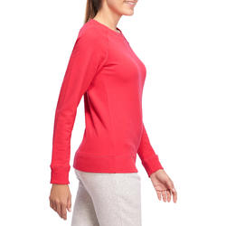 Sweater met ronde hals gym en pilates dames - 1098469