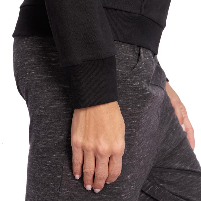 Veste 500 Gym & Pilates femme sans capuche zippée - 1098470