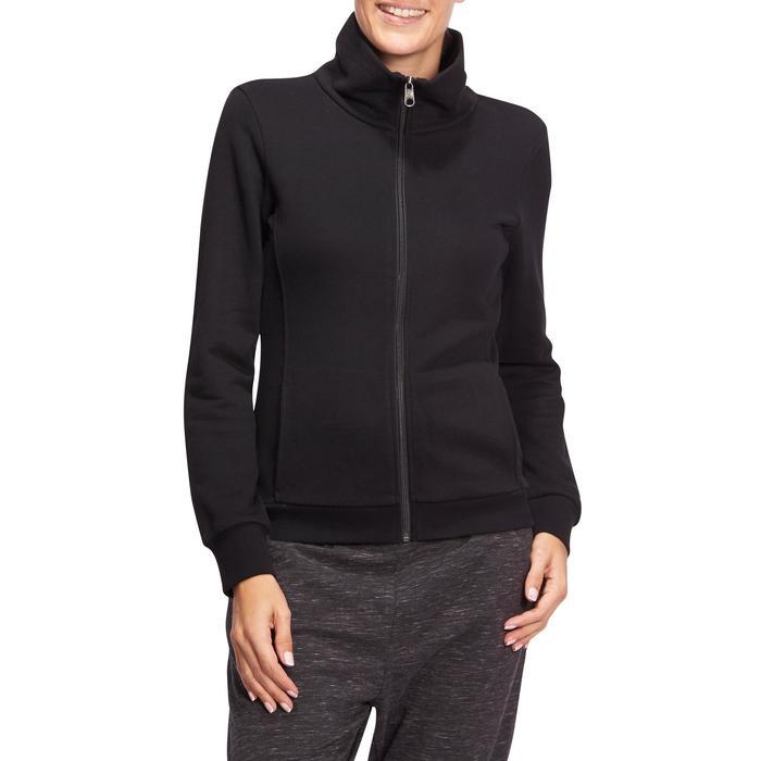 Veste 500 Gym & Pilates femme sans capuche zippée - 1098529