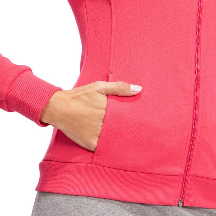 Veste 500 Gym & Pilates femme sans capuche zippée - 1098551