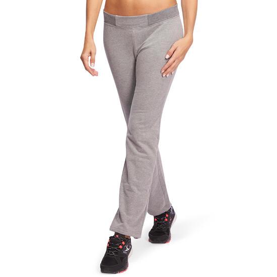 Broek basic gym en pilates voor dames gemêleerd - 1098557