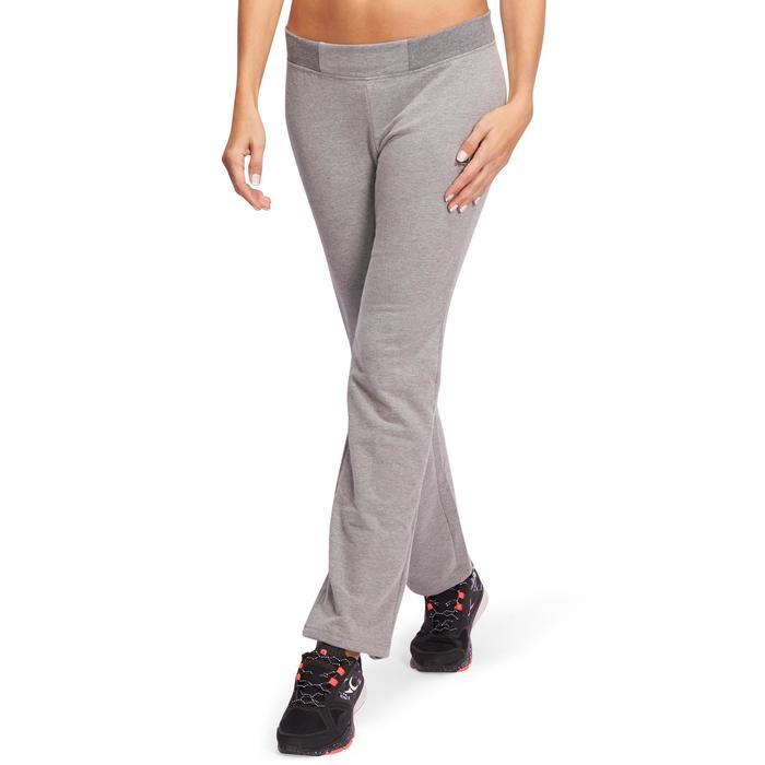Pantalon 120 Gym & Pilates femme gris chiné - 1098557
