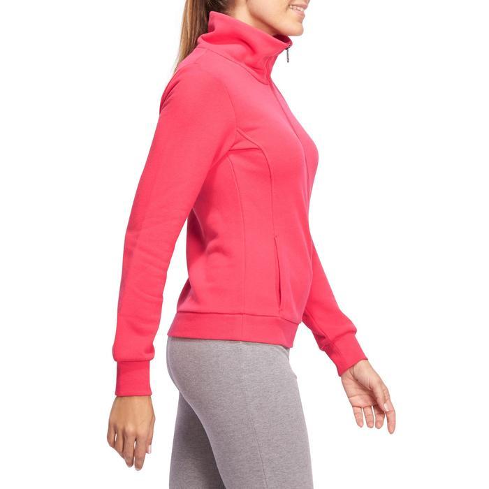 Veste 500 Gym & Pilates femme sans capuche zippée - 1098558