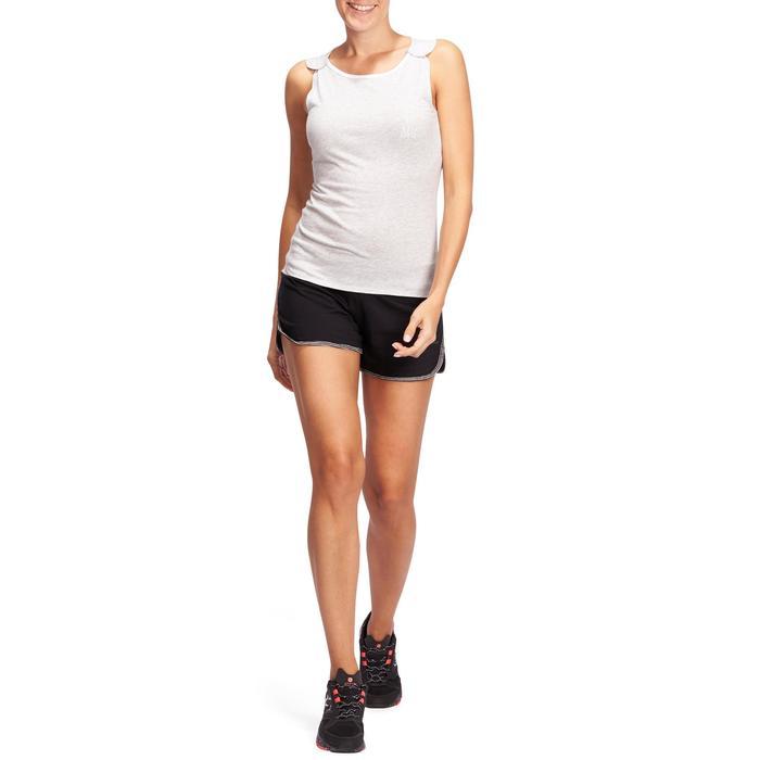 Débardeur Gym & Pilates femme gris clair - 1098560