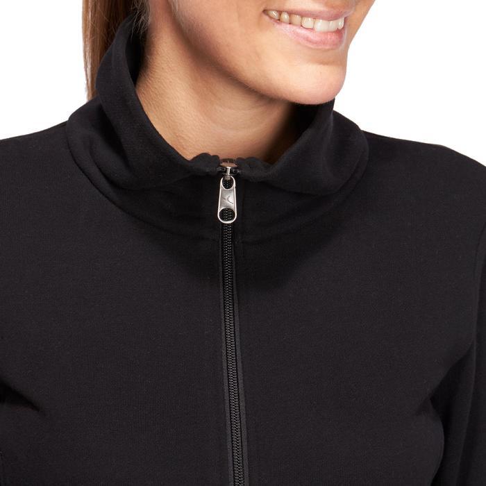 Veste 500 Gym & Pilates femme sans capuche zippée - 1098561