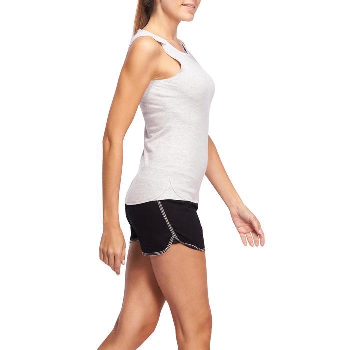 Débardeur Gym & Pilates femme gris clair - 1098563