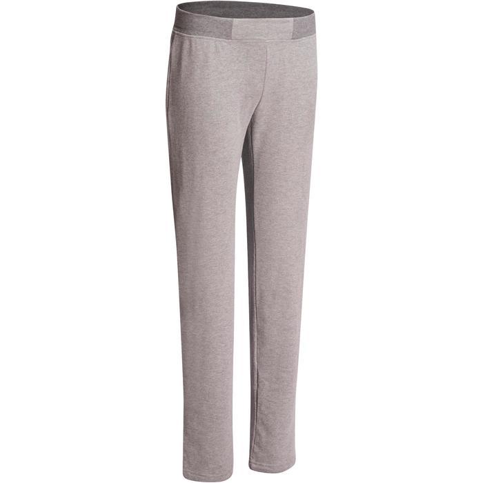 Pantalon 120 Gym & Pilates femme gris chiné - 1098566