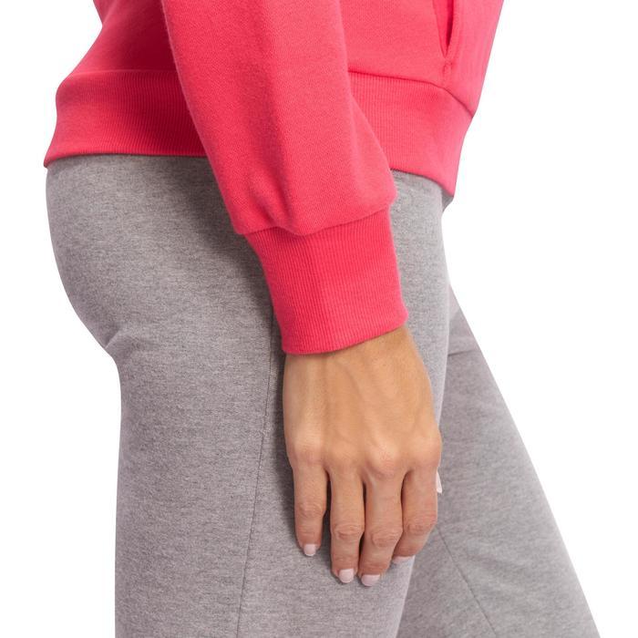 Veste 500 Gym & Pilates femme sans capuche zippée - 1098583