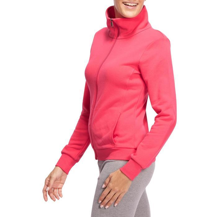 Veste 500 Gym & Pilates femme sans capuche zippée - 1098623