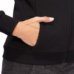 Veste zippée homme 500 noir col montant