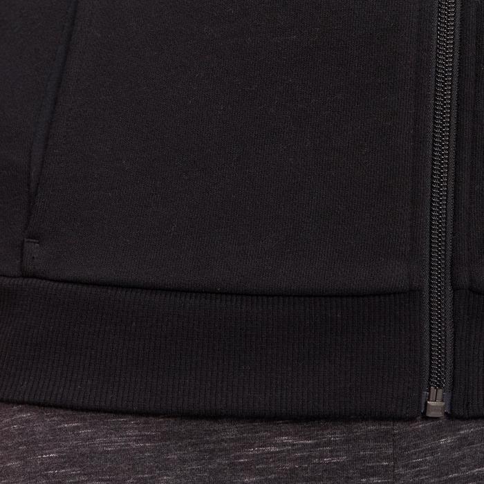 Damesvest met opstaande kraag voor pilates en zachte gym 500 zwart