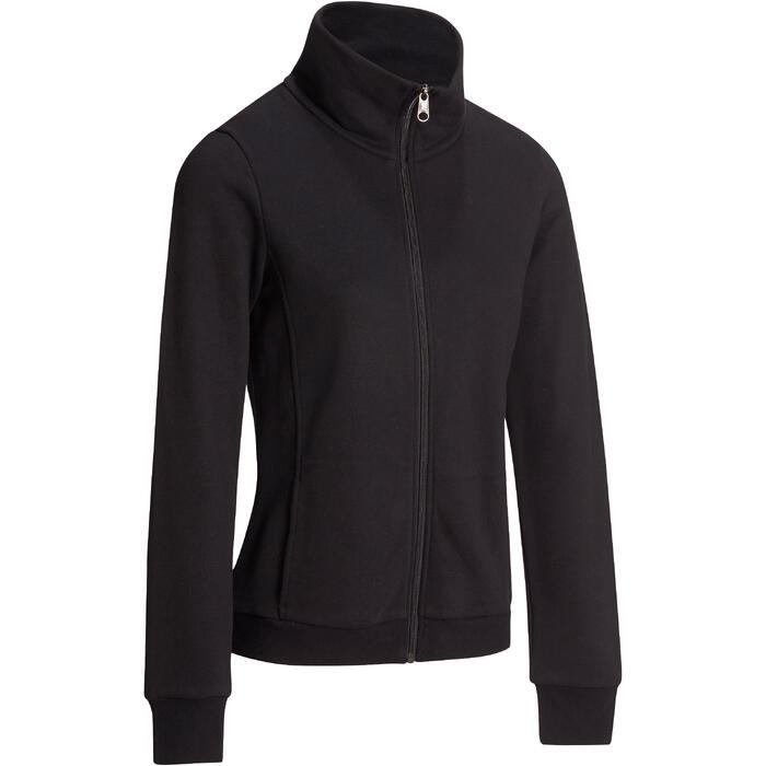 Veste sans capuche zippée Gym & Pilates femme - 1098648