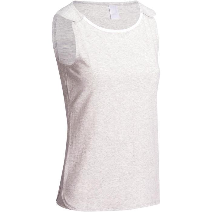 Débardeur Gym & Pilates femme gris clair - 1098666