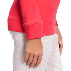 Sweater met ronde hals gym en pilates dames - 1098667