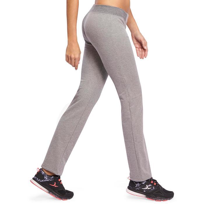 Pantalón 120 gimnasia y pilates mujer gris jaspeado