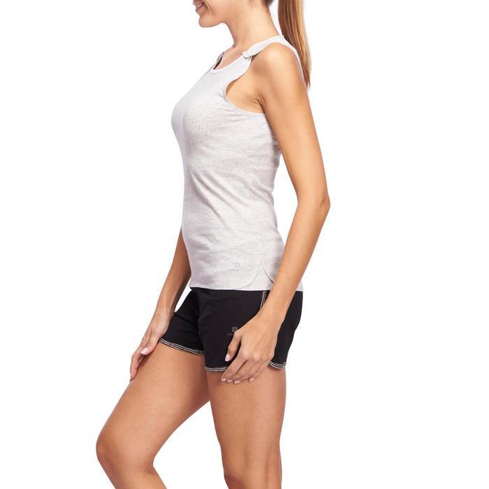 Débardeur Gym & Pilates femme gris clair - 1098670