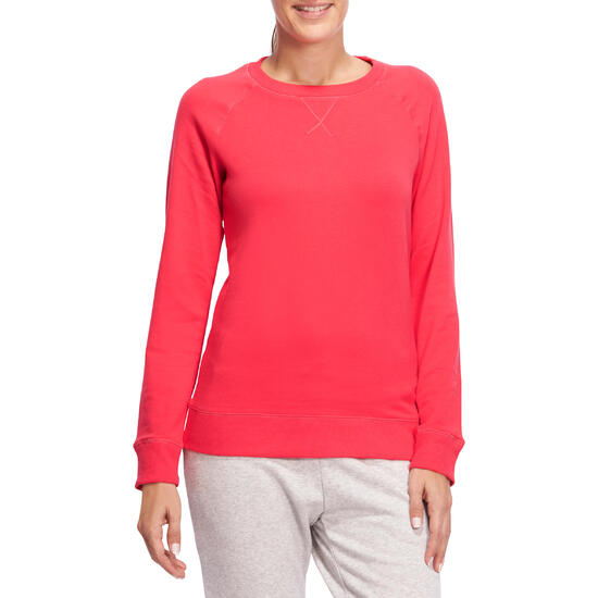 Sweater met ronde hals gym en pilates dames - 1098680