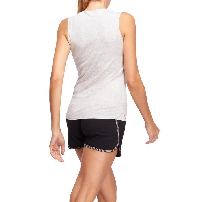 Damestop voor gym en pilates lichtgrijs
