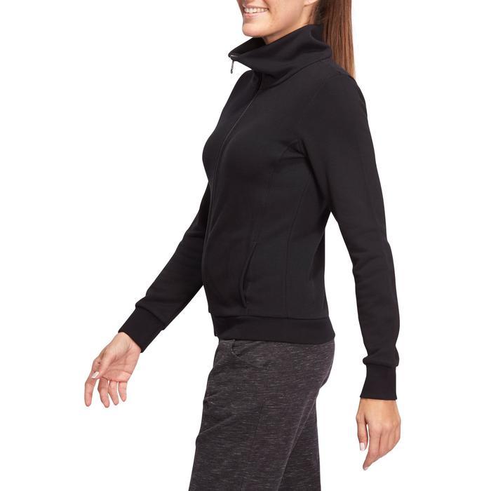 Veste 500 Gym & Pilates femme sans capuche zippée - 1098725