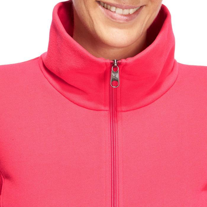 Veste 500 Gym & Pilates femme sans capuche zippée - 1098726