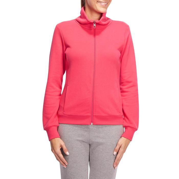 Veste 500 Gym & Pilates femme sans capuche zippée - 1098768