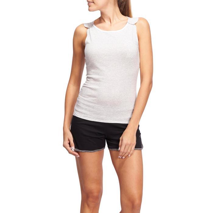 Débardeur Gym & Pilates femme gris clair - 1098771