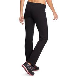Broek basic gym en pilates voor dames gemêleerd - 1098781