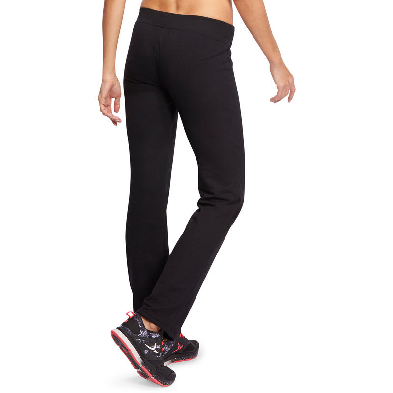 Bodypant 500 regular Gym Stretching femme noir