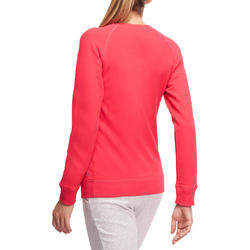 Sweater met ronde hals gym en pilates dames - 1098798