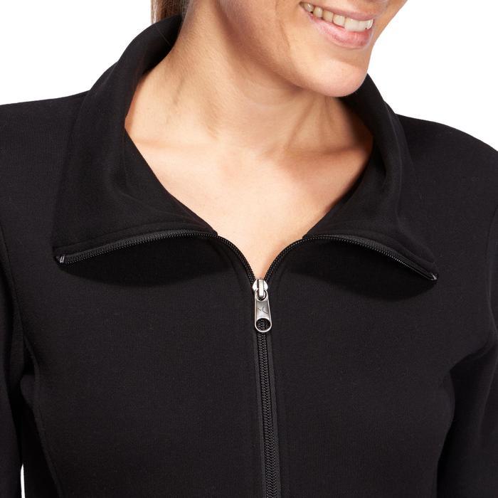 Veste 500 Gym & Pilates femme sans capuche zippée - 1098811