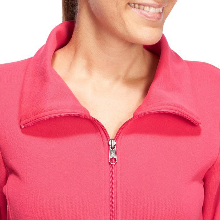 Veste 500 Gym & Pilates femme sans capuche zippée - 1098832
