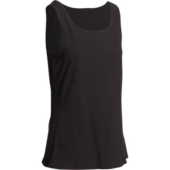 Tanktop gym & pilates dames felroze - 1098871