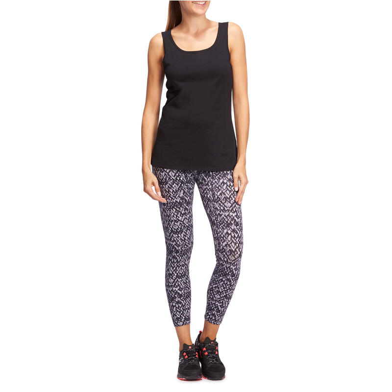 100 Women's Gentle Gym & Pilates Tank Top - Black