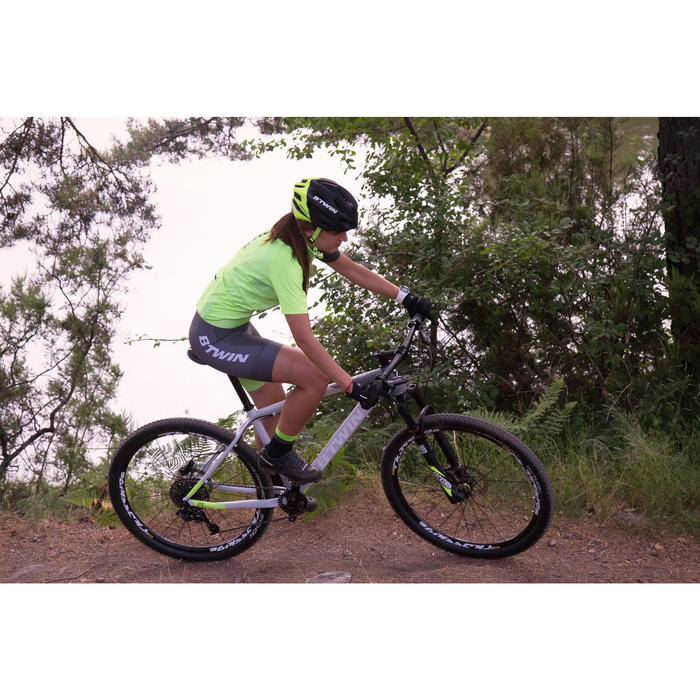 "Rockrider 920 27.5"" Mountain Bike - Grey/Lime - 1098916"
