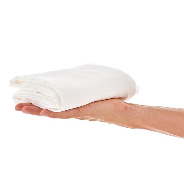 Sábana de saco de trekking de seda blanca
