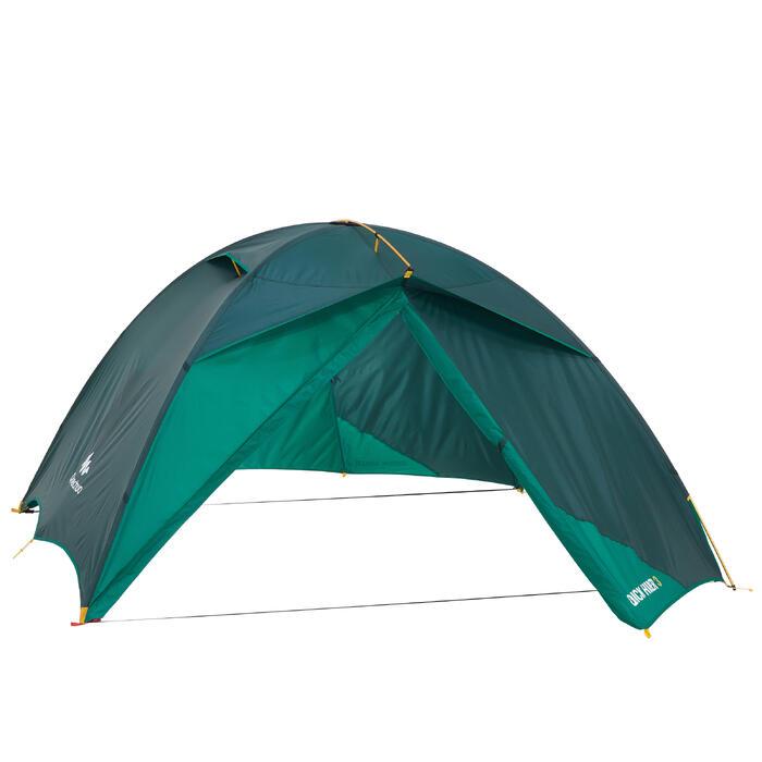 Tente de trek Quick Hiker 3 personnes verte - 1098967