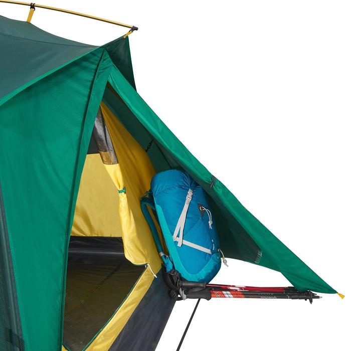 Tente de trek Quick Hiker 3 personnes verte - 1098993
