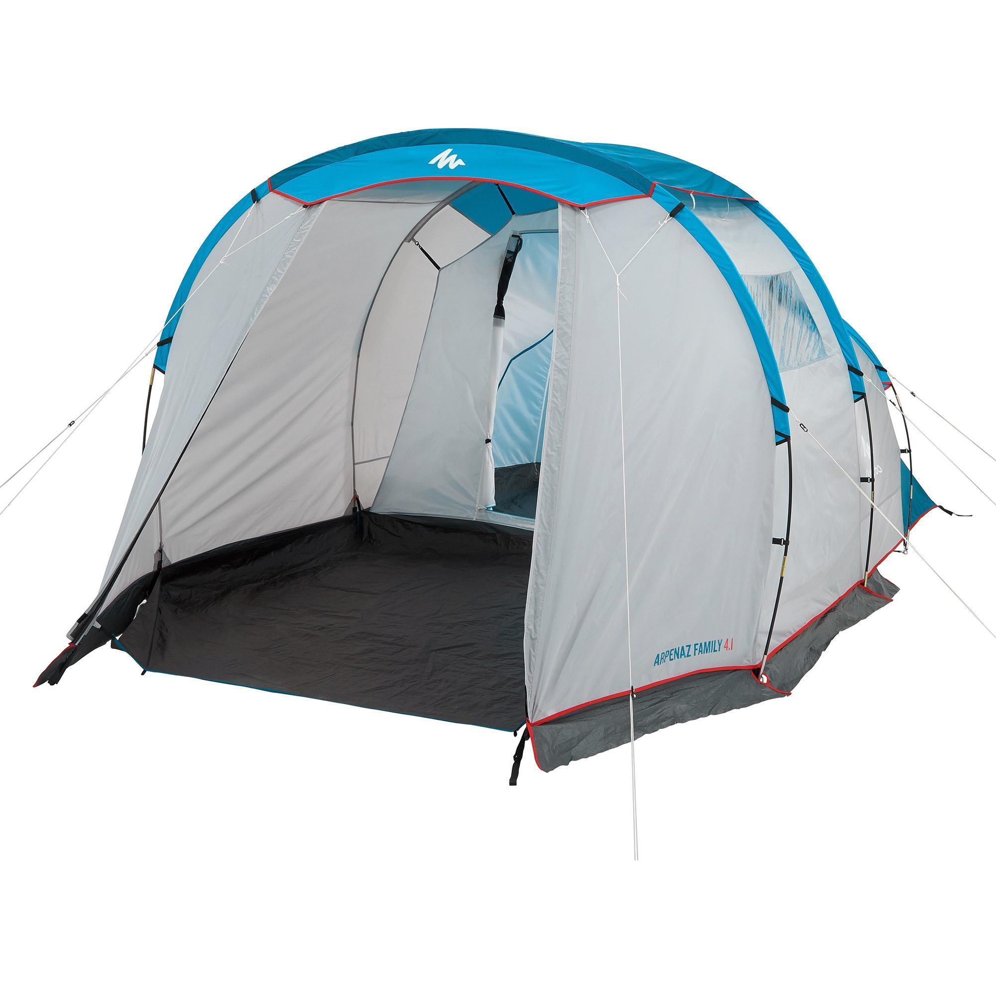Quechua Tent | 4 personen met bogen ARPENAZ 4.1 | 1 slaapcompartiment