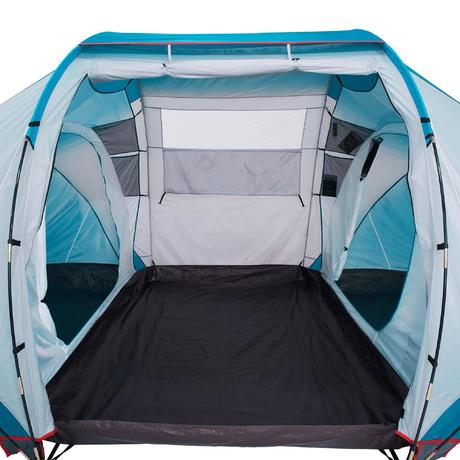 Arpenaz family 4 2 4 person family camping tent blue for Living room quechua