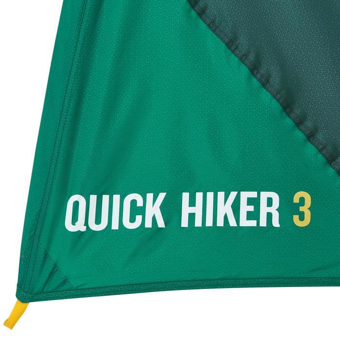 Binnentent voor tent Quick Hiker 3P groen