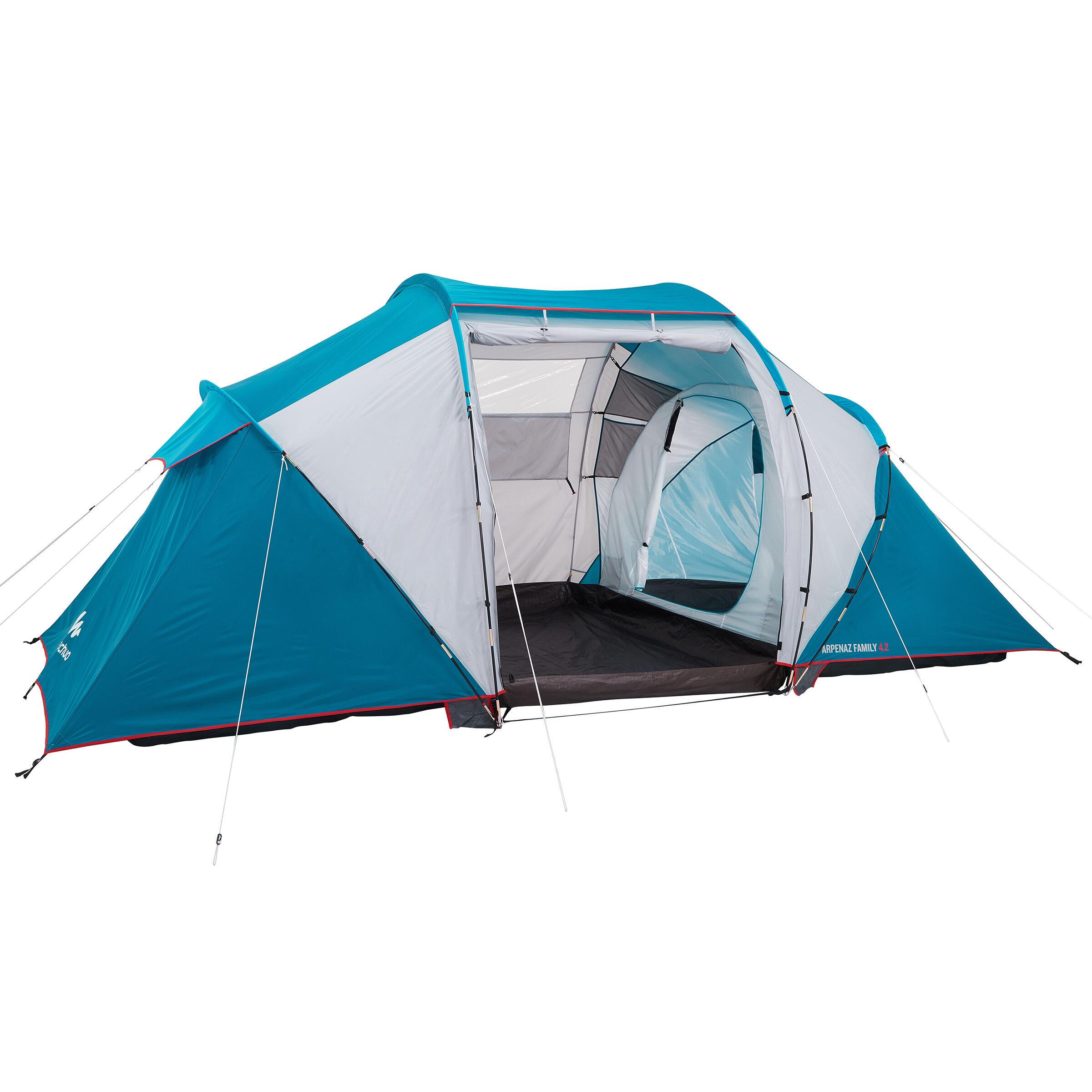 Quechua Tent 4 personen met bogen ARPENAZ 4.2 | 2 slaapcompartimenten