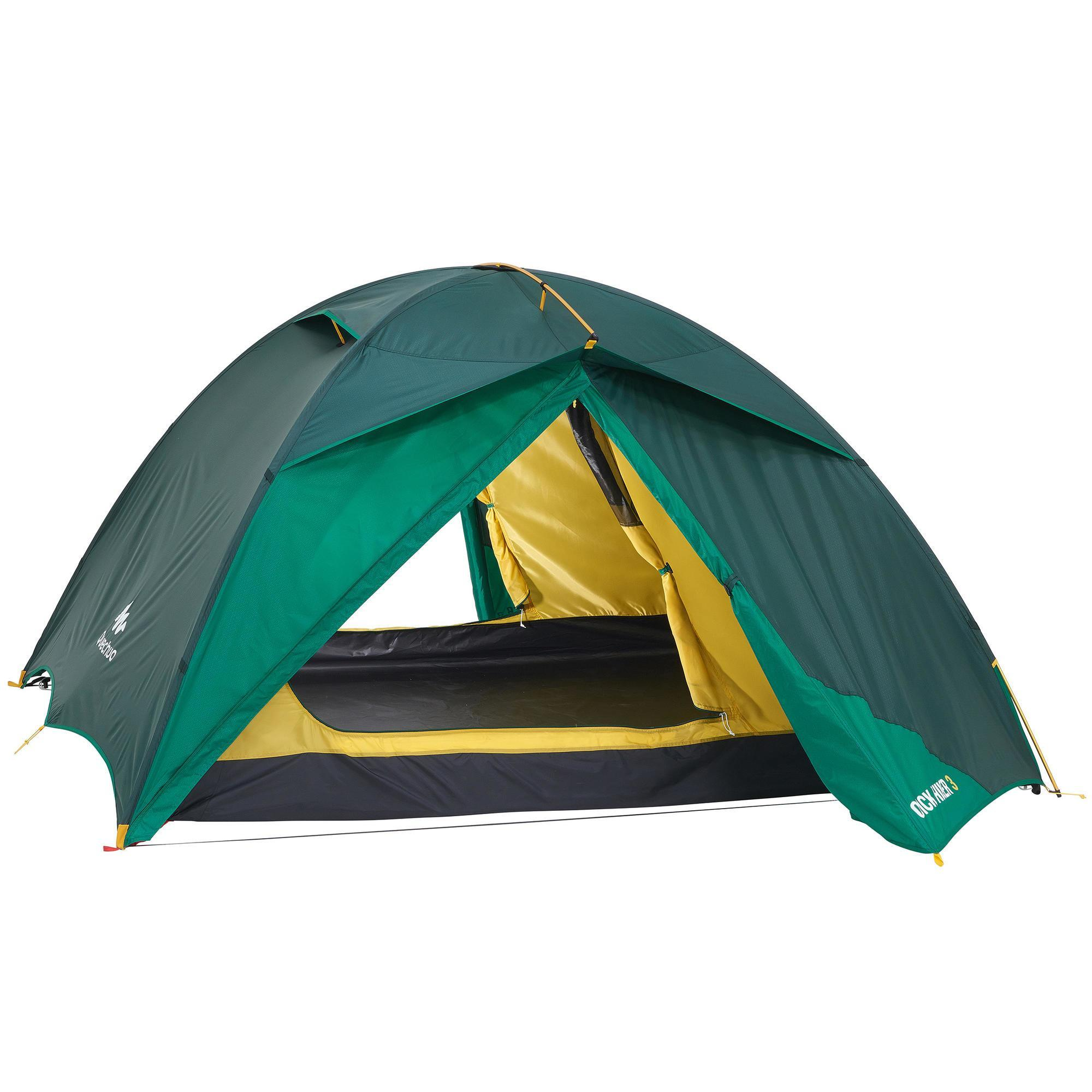 Quechua Tent | 3 Persoons | Groen | Quickhiker