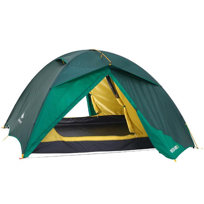 Tente de trekking QuickHiker 3 personnes verte