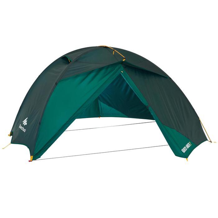 Tente de trek Quick Hiker 2 personnes verte - 1099117