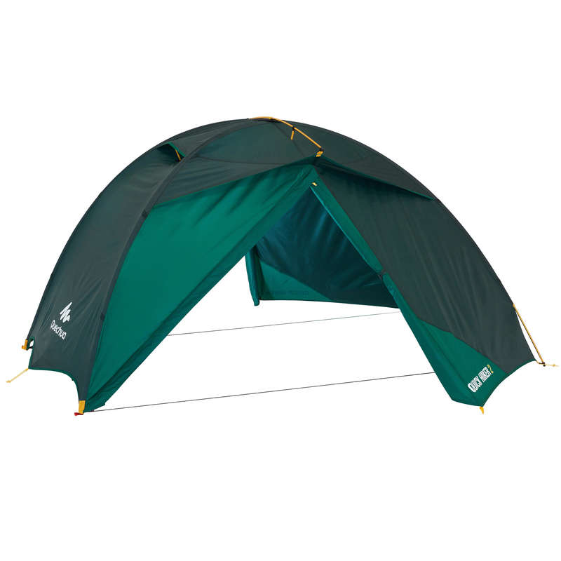 SPARE PART TREKKING TENTS Camping - Quick Hiker 2P Flysheet Green FORCLAZ - Tent Spares and Repair