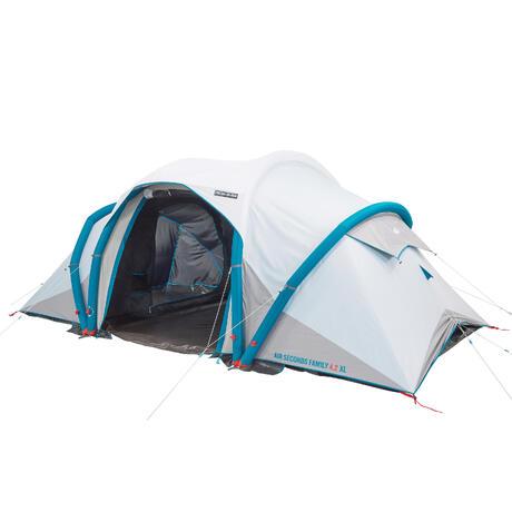 Family C&ing Tent Air Seconds family 4.2 XL Fresh u0026 Black I 4 persons   Quechua  sc 1 st  Quechua & Family Camping Tent Air Seconds family 4.2 XL Fresh u0026 Black I 4 ...