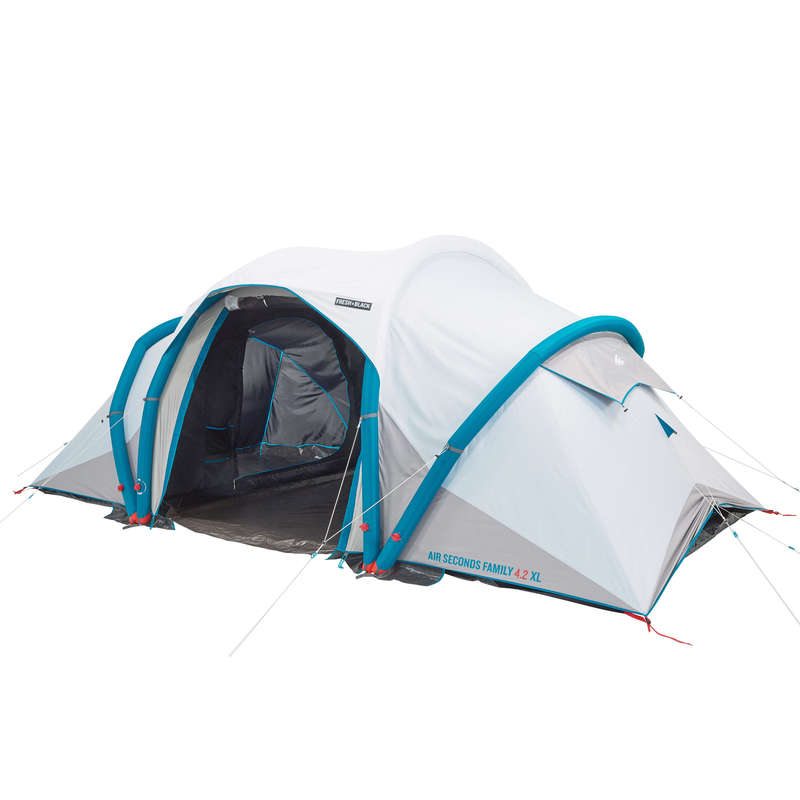 TENDE FAMILIARI E GAZEBO Sport di Montagna - Tenda AIR SECONDS FAMILY 4.2 XL Fresh & Black - 4 posti QUECHUA - Tende