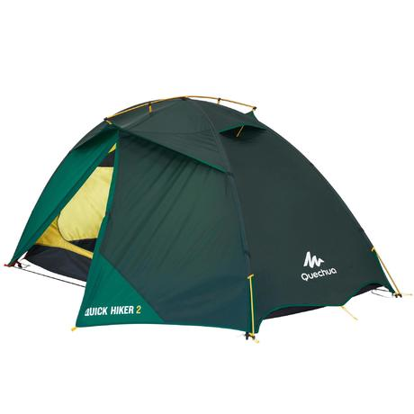 Next  sc 1 st  Quechua & Quick Hiker 2-Person Trekking Tent - Green | Quechua