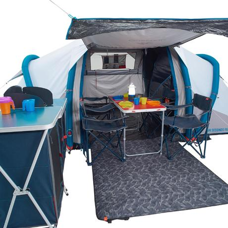 tente de camping familiale air seconds family 4 2 xl fresh. Black Bedroom Furniture Sets. Home Design Ideas